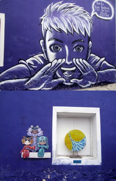 Street art depicting the local culture