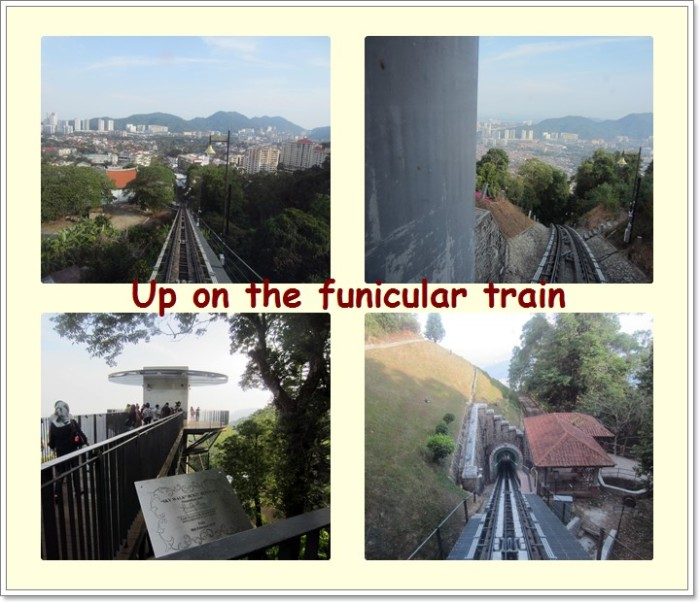 View along the 1,996m funicular track from Lower to Upper Station