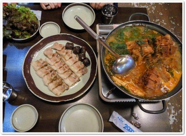 Bossam and Pork spine soup