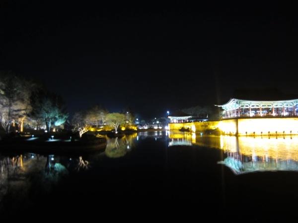 Amazing night view at the ancient Silla Palace & Anapji Pond