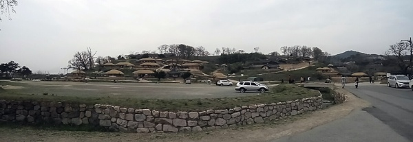 Panoramic view of the largest traditional village in South Korea