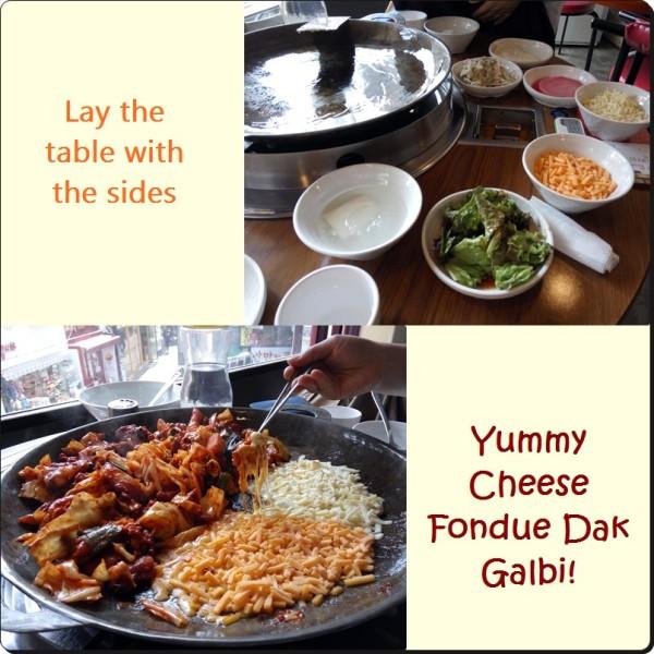 Sin mi gyeong cheese fondue dak galbi