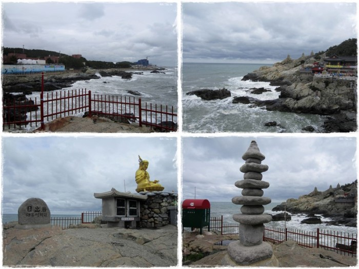 The stunning views of the temple overlooking the sea