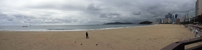 Panoramic view of the beach