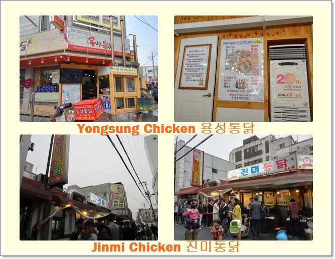 Suwon Chicken Alley famous restaurants