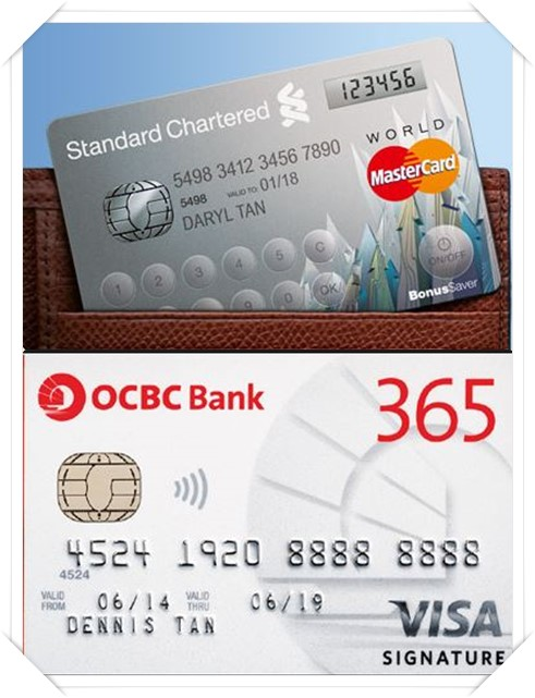The Standard Chartered credit card is not embossed, i.e. numbers/ characters don't pop out = NOT accepted. Only cards like the one below can be accepted