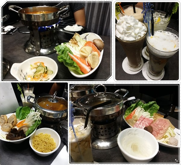 Combo, vegetarian & chicken shabu shabu sets with cold beverages
