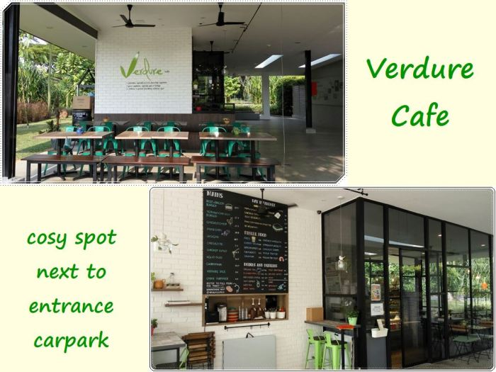 Verdure Cafe at the main entrance of the park