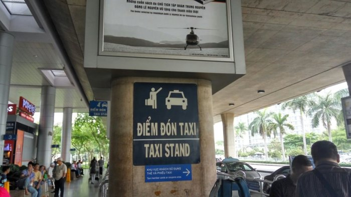 Taxi Stand is on the extreme left end once you exit the airport
