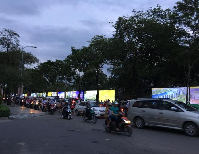 A typical scene on the road in HCMC
